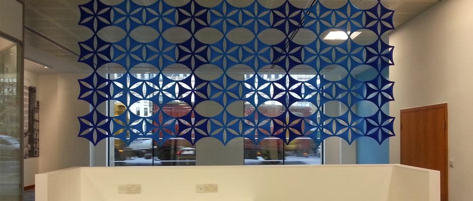 Lomond House Glazed Glass Screen
