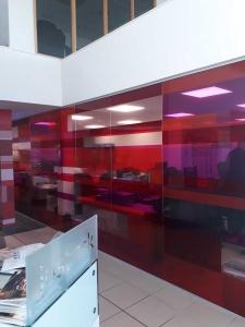 Large Coloured Glazed Screen