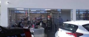 Toyota Garage Glazed Screens