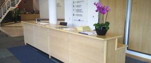 Refurbished Reception Area
