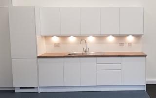 Office refurbishment Glasgow, kitchen unit 2