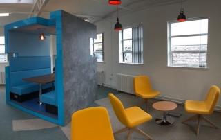 Office Refurbishment bespoke seating pod, Ayr